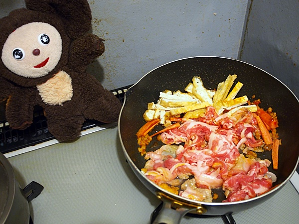 春キャベツと豚肉のちゃんちゃん焼き風