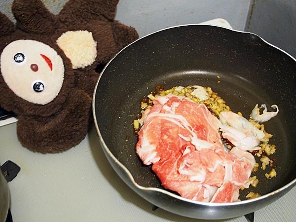 豚肉の若竹炒め