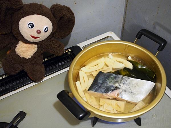 たけのことサワラの煮物