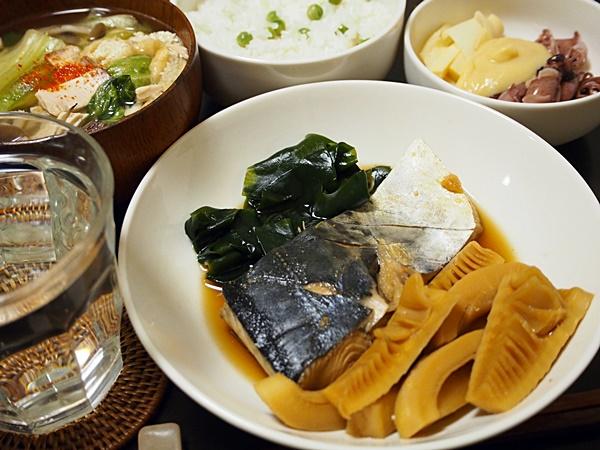 タケノコと鰆の煮物
