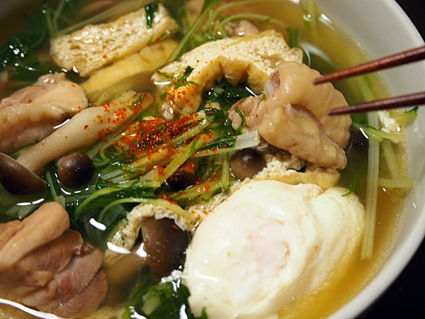 水菜と鶏肉の吸物