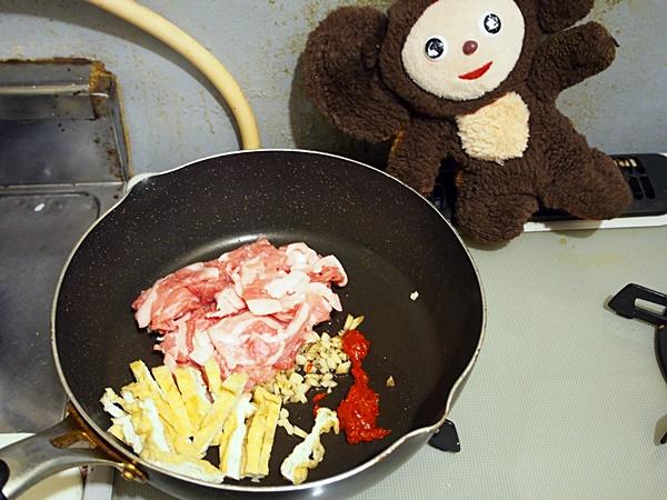 万願寺と豚肉のみそ炒め