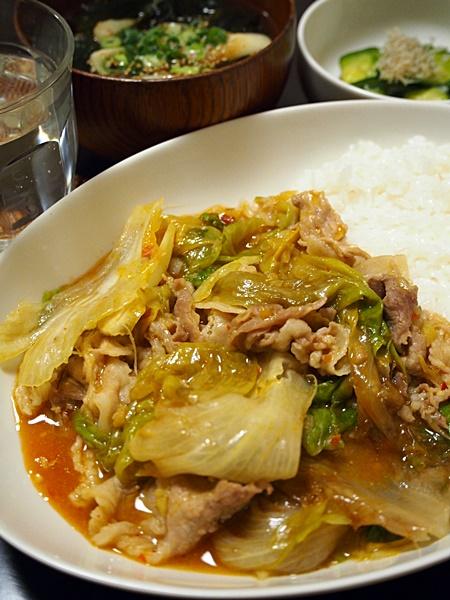 レタスと豚肉のマーボー丼
