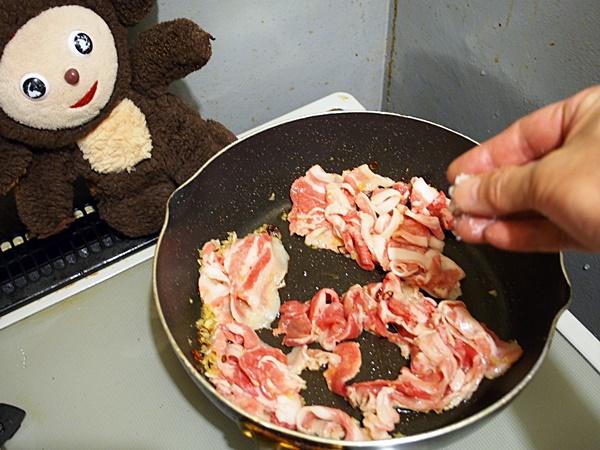 豚肉とキュウリの炒めもの