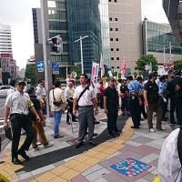 7・15名古屋駅前ヘイトスピーチへのカウンター