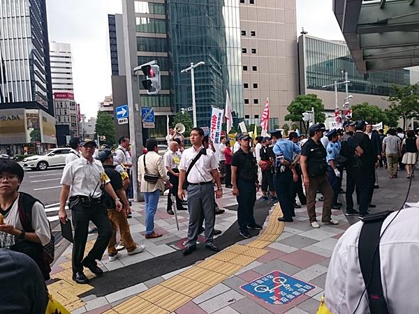 7・18名古屋駅前ヘイトスピーチへのカウンター