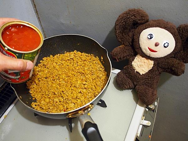 ナスとひき肉のトマト缶カレー 作り方