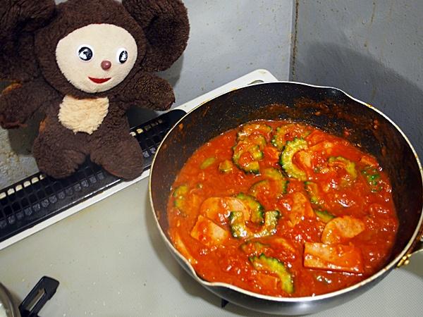 ゴーヤのトマト煮ライス 作り方
