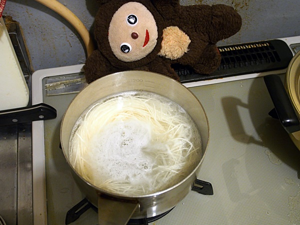 ナス鶏そぼろあんかけ素麺