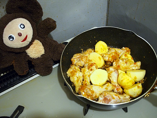 チキントマト煮ライス 作り方