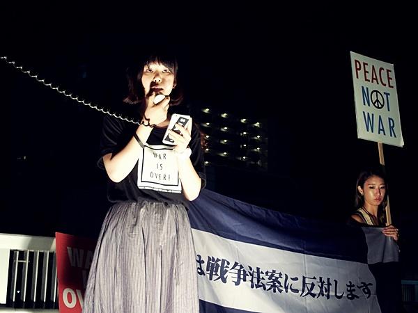 学生・学者による安保法案反対アピールat滋賀