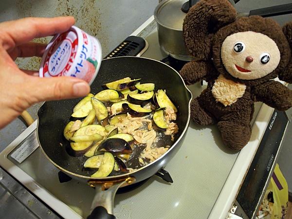 ナスとツナのぽん酢炒め 作り方