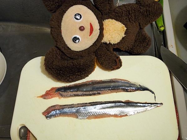 新物サンマ刺身 作り方