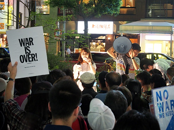 8月7日神戸元町・SEALDs KANSAI街宣アピール