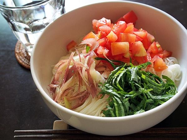 ツナとトマトの素麺