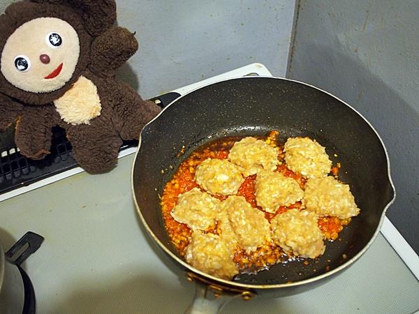 鶏つくねとナスのカレー 作り方