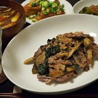 向田邦子流ごぼうと牛肉のうま煮