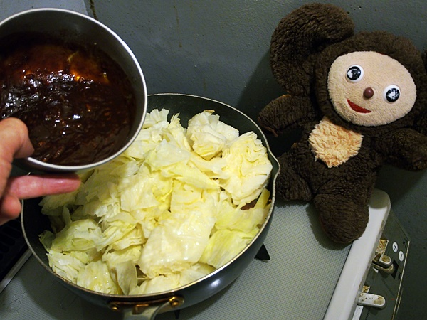 鶏肉とたっぷり野菜のキムチ味噌焼き 作り方