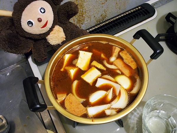ブテチゲ的スパムとじゃがいものキムチ味噌汁 作り方