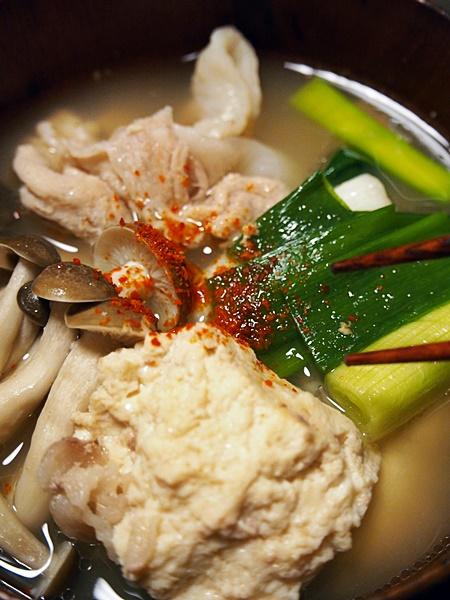 豚肉と豆腐の吸物