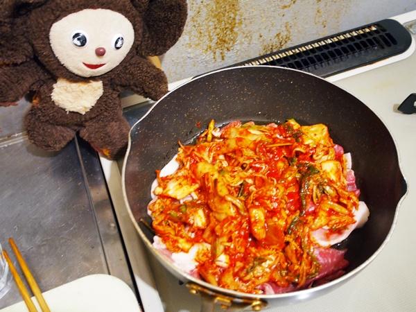 豚肉とニラのキムチ汁 作り方