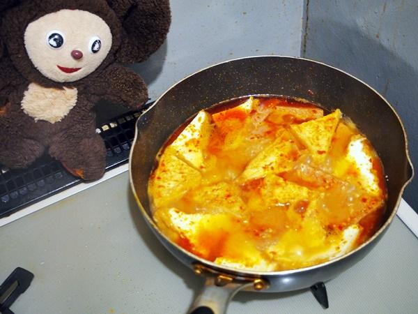 ゴーヤと厚揚げのピリ辛みそ煮込み 作り方