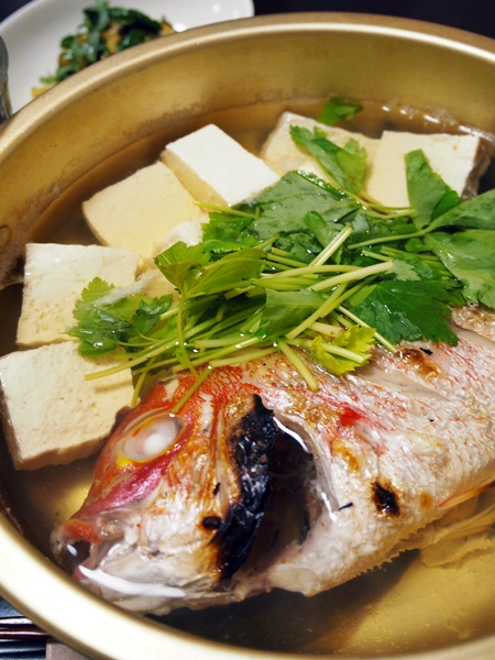 小鯛の湯豆腐