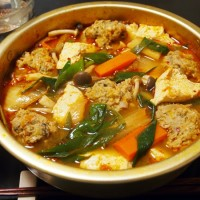 サンマつみれのキムチ鍋