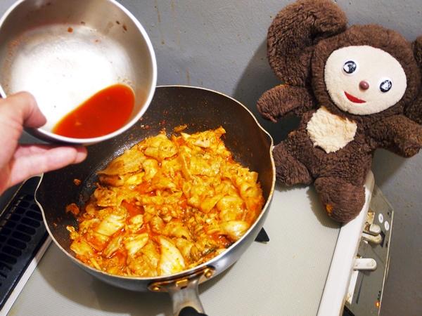 ピーマンの豚キムチ 作り方