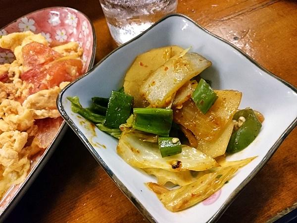 青唐辛子とジャガイモの炒め物