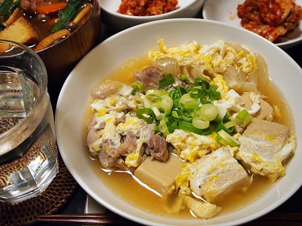 高野豆腐と鶏肉のたまごとじ