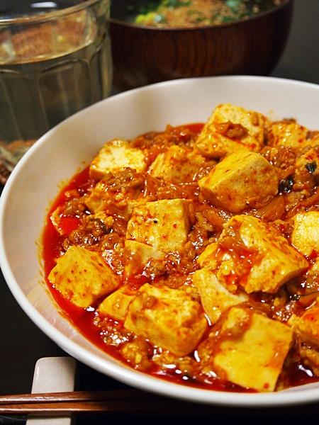 キムチのマーボー豆腐