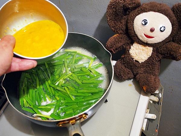 かきのニラ玉・和風ニンニク味 作り方