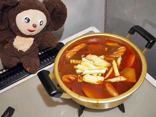 鶏肉と大根のニンニク入り赤出しみそ汁 作り方