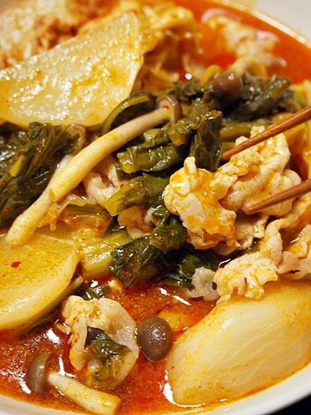 豚肉とかぶのキムチあんかけ煮