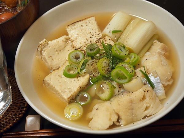 たらと豆腐のうす味煮