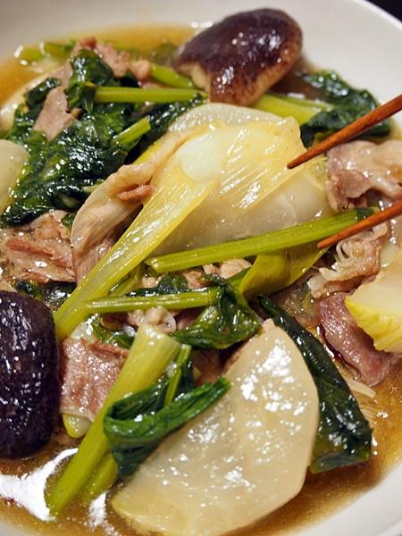 豚肉とカブの中華風あんかけ煮