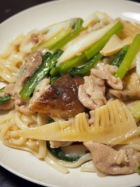 豚肉と小松菜の激トロミ皿うどん