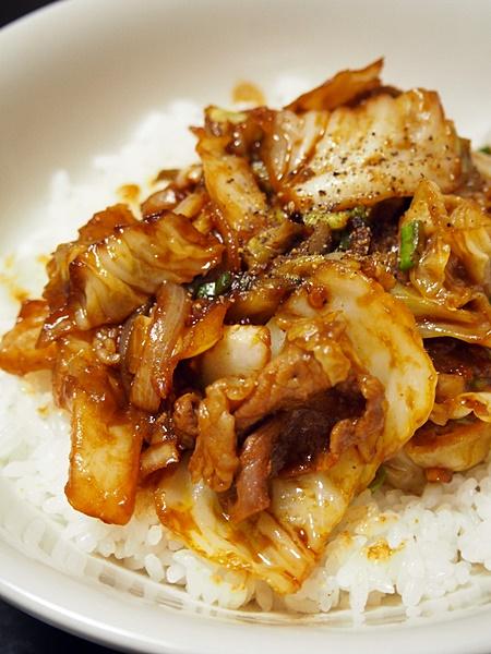 豚肉とキャベツのピリ辛みそ炒め