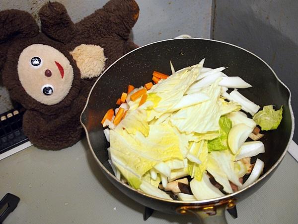 鶏肉と白菜の中華的あんかけうどん 作り方