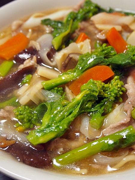 菜の花と豚肉のチャンポン