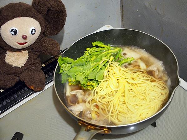 菜の花と豚肉のチャンポン・簡易版 作り方