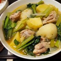 鶏肉と小松菜のカレー