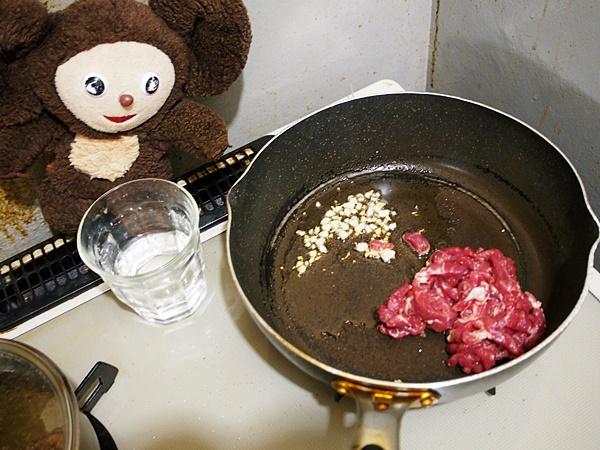 青椒肉絲チャンポン 作り方