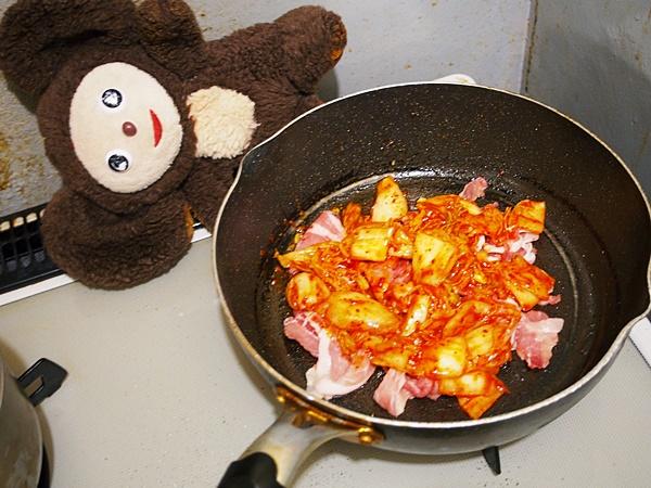 キムチのポパイ炒め 作り方