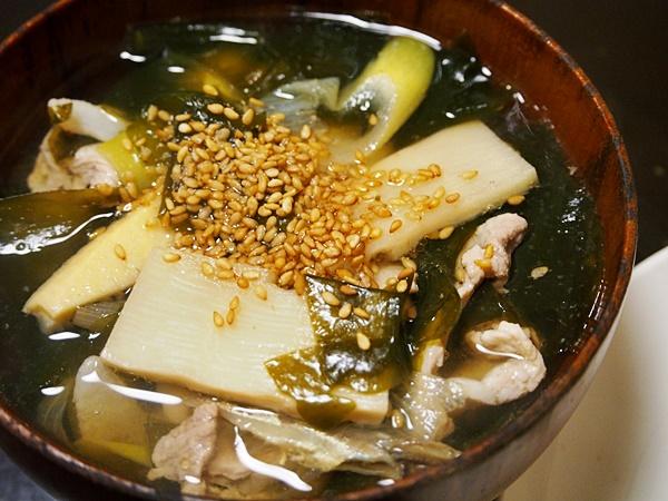 豚肉の若竹スープ