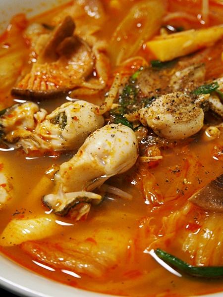牡蠣のキムチチゲ