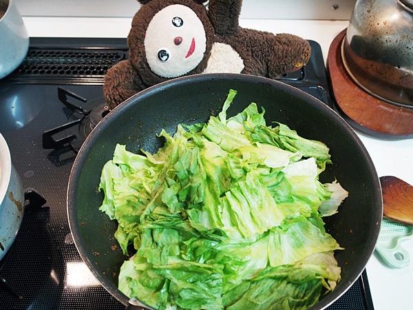 汁なしマーボーレタス(和風) 作り方