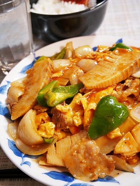 タケノコ卵炒め