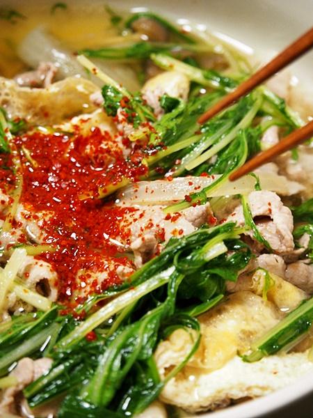 豚肉と水菜のはりはり汁